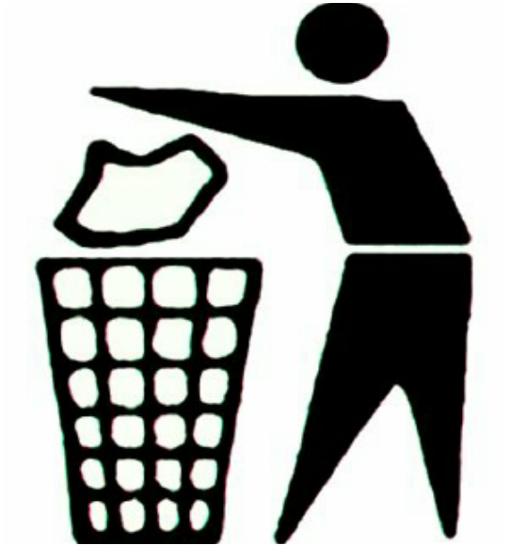 Jetons nos ordures dans les poubelles