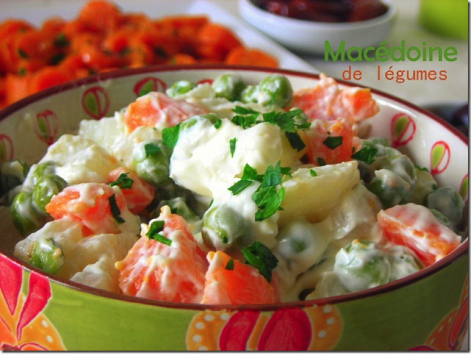 Recette Macédoine de légumes mayonnaise
